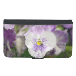 Purple And White Violas by Shirley Taylor Wallet Phone Case For Samsung Galaxy S5