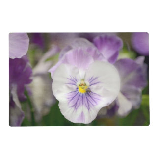 Purple And White Violas Placemat