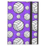 Purple and White Volleyball Pattern iPad Air Case