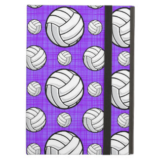 Purple and White Volleyball Pattern iPad Air Cases