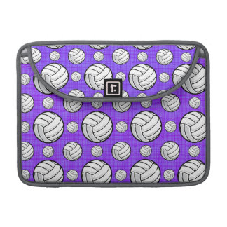 Purple and White Volleyball Pattern Sleeves For MacBooks