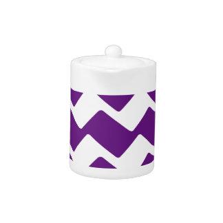 Purple and White Wavy Chevron Stripes