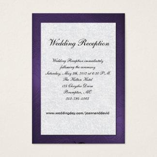 Purple and White Wedding Enclosure Card