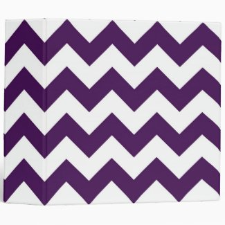Purple and White Zigzag Binder