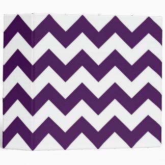 Purple and White Zigzag Binder