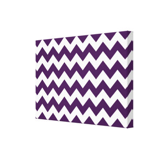 Purple and White Zigzag Gallery Wrapped Canvas