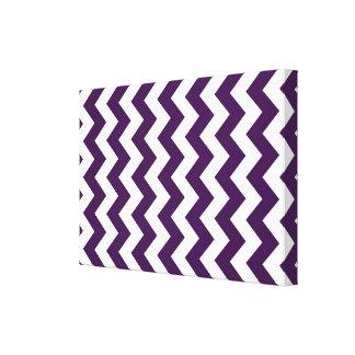 Purple and White Zigzag Canvas Print