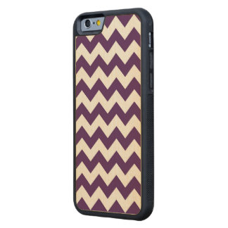 Purple and White Zigzag Carved® Maple iPhone 6 Bumper Case