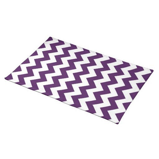 Purple and White Zigzag Cloth Place Mat