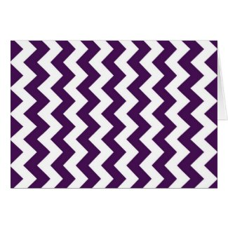 Purple and White Zigzag Greeting Cards
