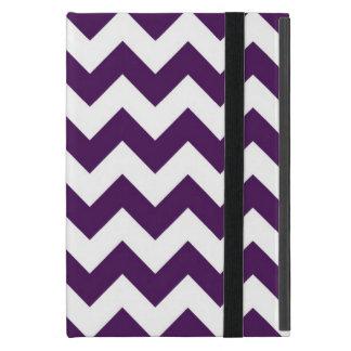 Purple and White Zigzag iPad Mini Cover