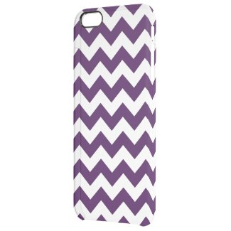 Purple and White Zigzag Uncommon Clearly™ Deflector iPhone 6 Plus Case