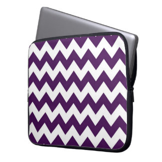 Purple and White Zigzag Laptop Sleeves
