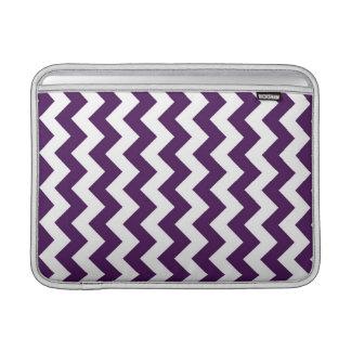 Purple and White Zigzag MacBook Sleeves
