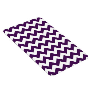Purple and White Zigzag Magnet