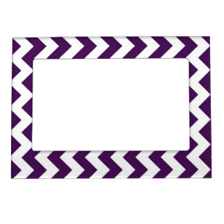Purple and White Zigzag Magnetic Frame