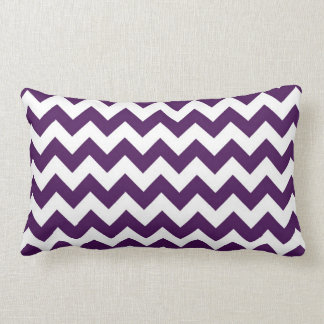 Purple and White Zigzag Pillow