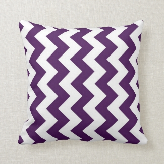Purple and White Zigzag