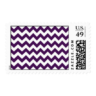 Purple and White Zigzag Stamps