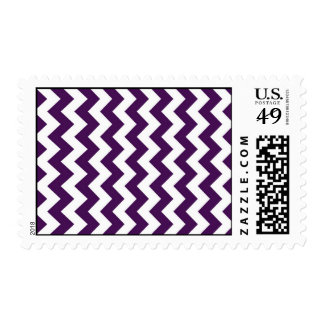 Purple and White Zigzag Postage