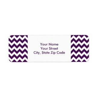 Purple and White Zigzag return address label