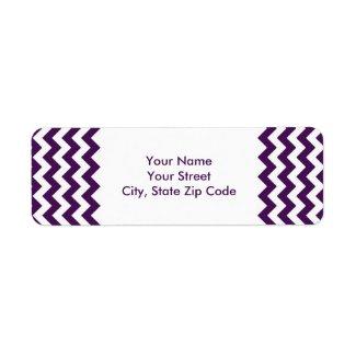 Purple and White Zigzag return address label