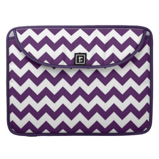 Purple and White Zigzag Sleeves For MacBooks