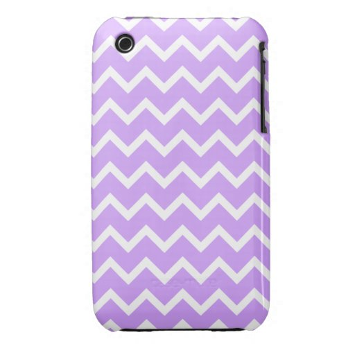 Purple and White Zigzag Stripes. iPhone 3 Case-Mate Cases