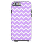 Purple and White Zigzag Stripes. Tough iPhone 6 Case