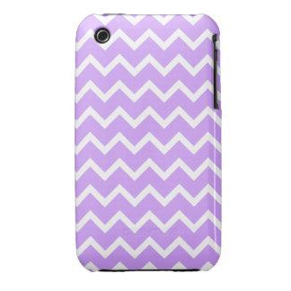 Purple and White Zigzag Stripes. Case-Mate iPhone 3 Case