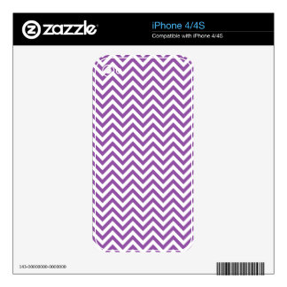 Purple and White Zigzag Stripes Chevron Pattern Decal For iPhone 4