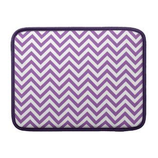 Purple and White Zigzag Stripes Chevron Pattern MacBook Air Sleeve