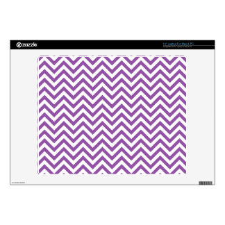 Purple and White Zigzag Stripes Chevron Pattern Skin For Laptop