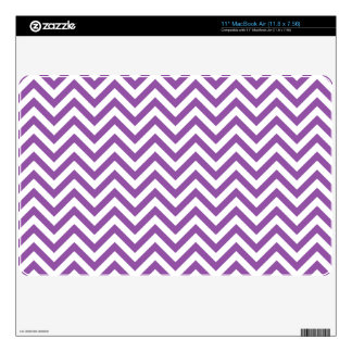 Purple and White Zigzag Stripes Chevron Pattern Skin For The MacBook