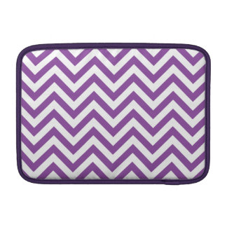 Purple and White Zigzag Stripes Chevron Pattern Sleeve For MacBook Air