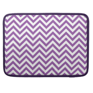 Purple and White Zigzag Stripes Chevron Pattern Sleeve For MacBook Pro