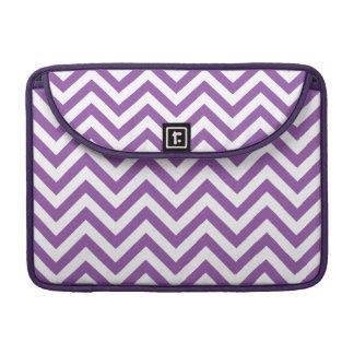 Purple and White Zigzag Stripes Chevron Pattern Sleeve For MacBooks