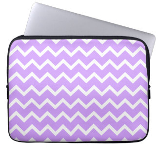 Purple and White Zigzag Stripes. Computer Sleeve