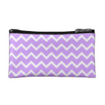 Purple and White Zigzag Stripes. Cosmetic Bag