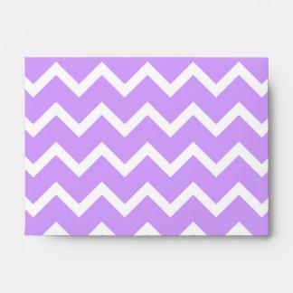 Purple and White Zigzag Stripes. Envelopes