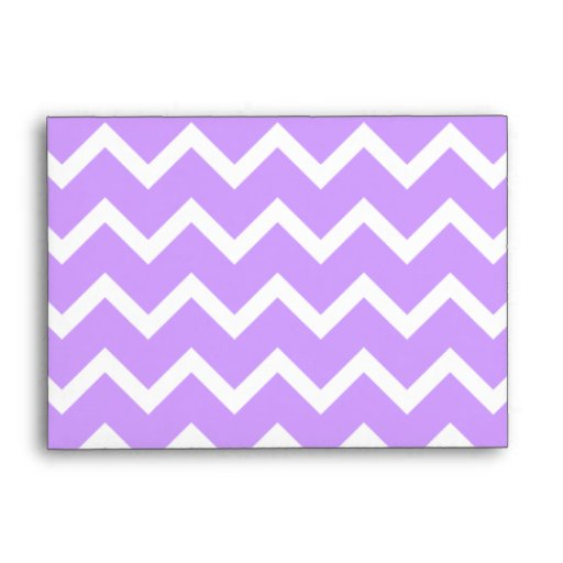 Purple and White Zigzag Stripes. Envelope