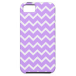 Purple and White Zigzag Stripes. iPhone 5 Covers