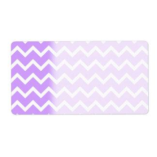 Purple and White Zigzag Stripes. Label