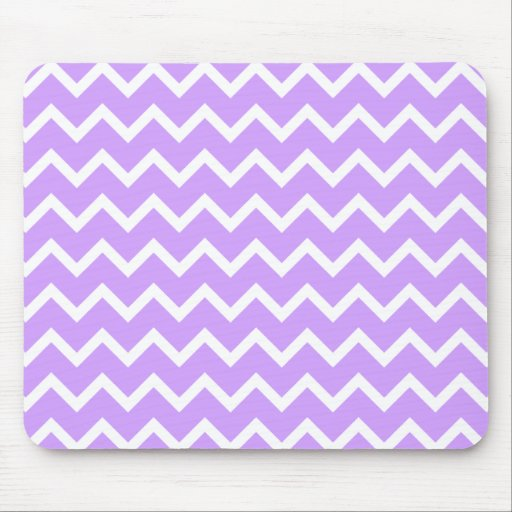 Purple and White Zigzag Stripes. Mouse Pad