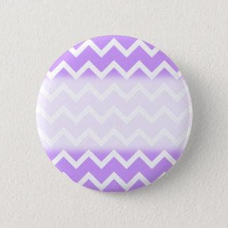 Purple and White Zigzag Stripes. Pinback Button