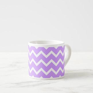 Purple and White Zigzag Stripes. Espresso Mugs