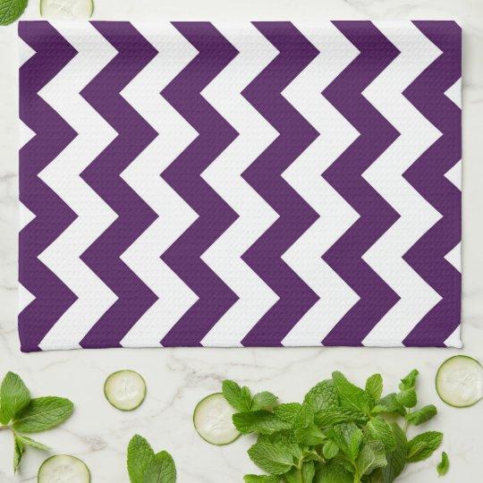 Purple and White Zigzag Towel