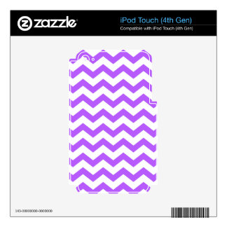 Purple and White Zigzags Decal For iPod Touch 4G