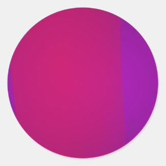 Purple and Wine Round Sticker