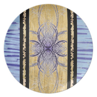 Purple and Wood Abstract by Alexandra Cook Plate